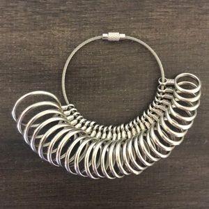 Metal Ring Sizer Gauge New in box